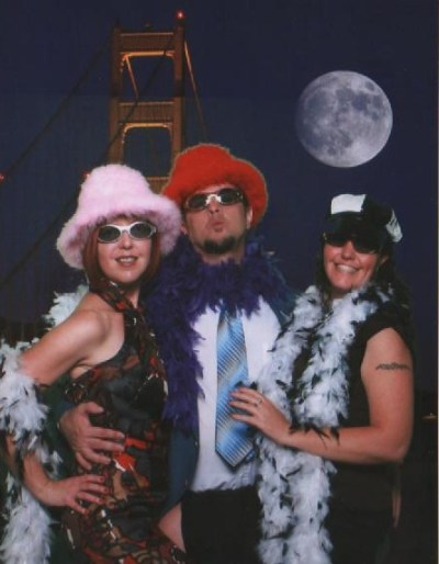 Tony, Michelle and I get our pimp on.
