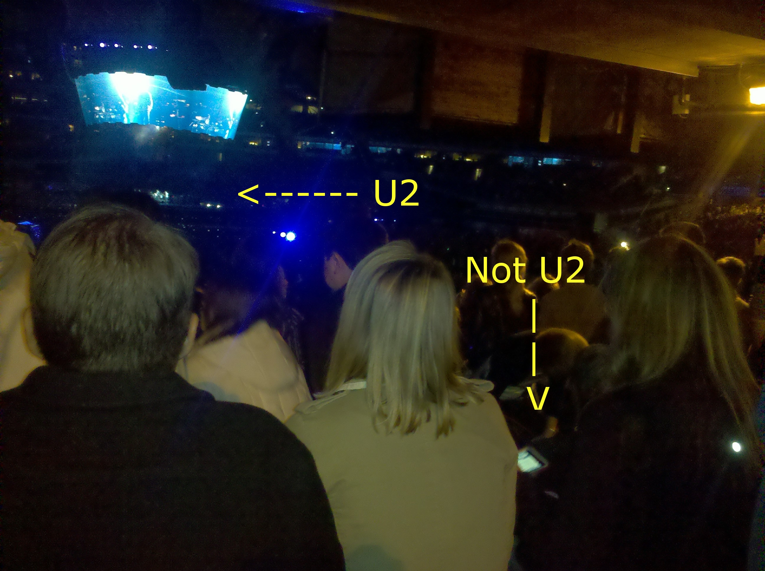 I took this photo at the U2 concert in 2011. I haven't been to a concert since.