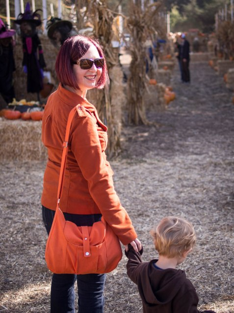 "Photographic evidence that I""m a good mom, taking my son to the pumpkin patch."