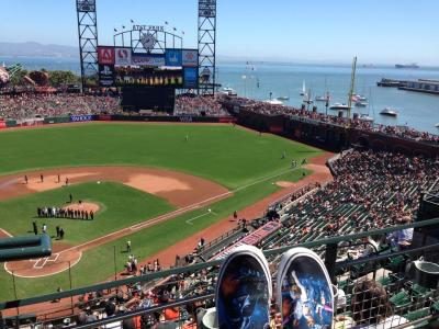 An amazing view of AT&T Park ... and my Star Wars shoes.