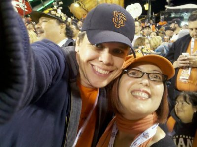 David and I at the 2010 World Series.