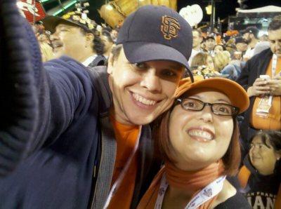 David and I at the 2010 World Series.