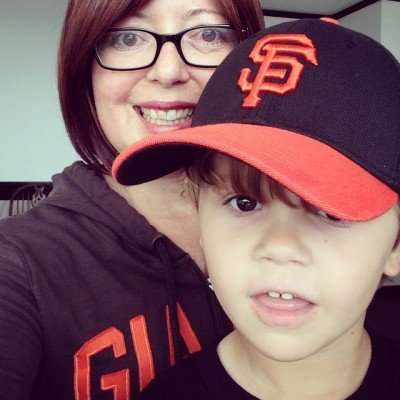 The traditional SF Giants Opening Day Selfie.