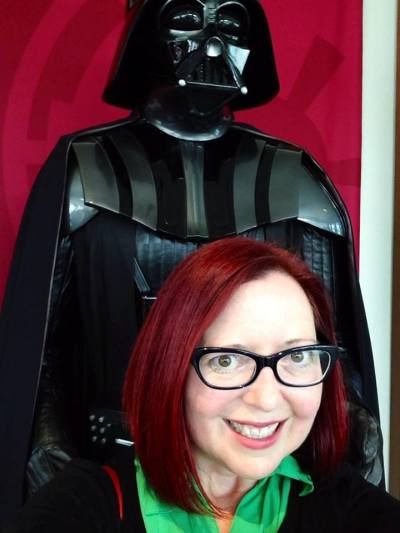 My old hair with Darth Vader, because why not?