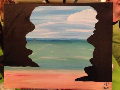 Here's my painting. It's not half bad, if I don't say so myself.